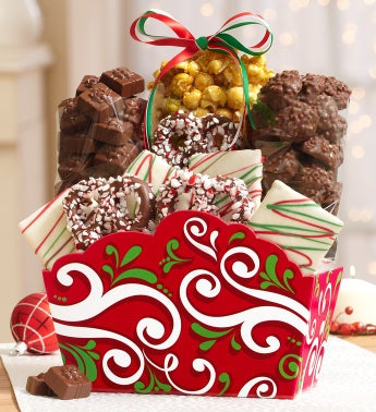Holiday Gift Basket & Harry London® Chocolates