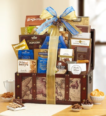 Stately Gourmet Gift Trunk