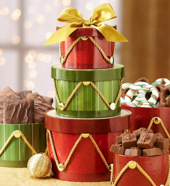 Regal Drum Gift Tower & Harry London® Chocolate