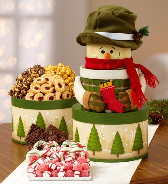 Snowy Days Sweets Gift Tower