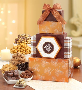 Glorious Golden Sweets Gift Tower