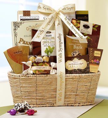 Our Hearts Are With You Sympathy Basket