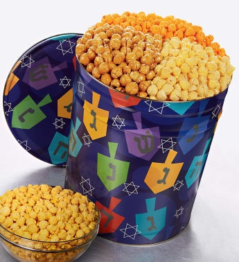 The Popcorn Factory® Spin the Dreidel Popcorn Tin