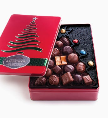 Fannie May® Chocolate Christmas Tree Tin