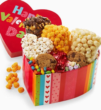 The Popcorn Factory® Giant Heart Treat Box