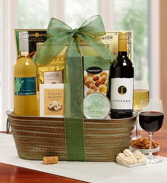 Summer Breeze Wine Basket