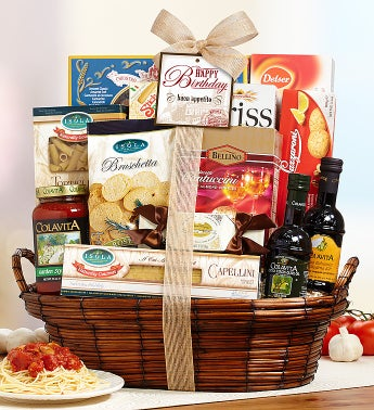 Bon Appetit Happy Birthday Italian Basket
