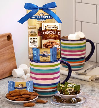 Festive Striped Mug with Ghirardelli®