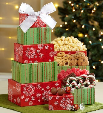 Snowflakes & Sweets Gift Tower