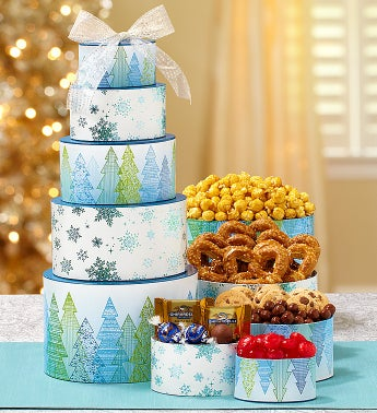 Wintry Days Holiday Sweets Tower