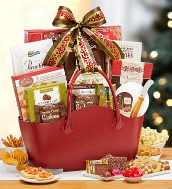 Elegant Cheer Gift Tote Basket