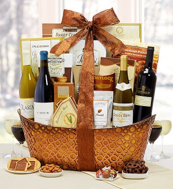 Toast the Season Gourmet Wine Basket