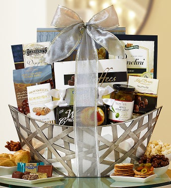 Silver Sophistication Gift Basket