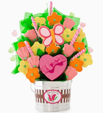 Cheryl's Mother's Day Cookie and Candy Flower Pot