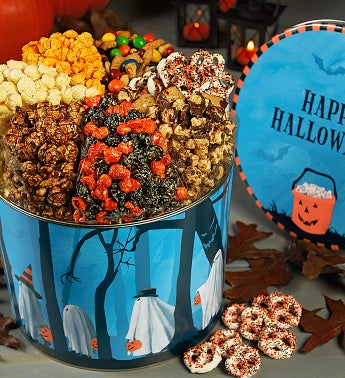 Popcorn Factory®Trick or Trees 7 Way Snack Tin
