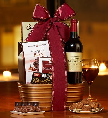 C'est L'Amour French Wine & Chocolates Basket