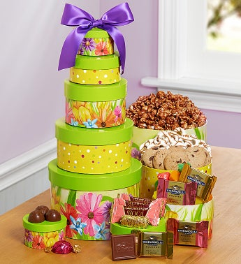 Sweet Spring Greetings Gift Tower