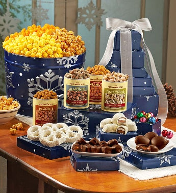 The Popcorn Factory® Snowy Night Tin & Tower