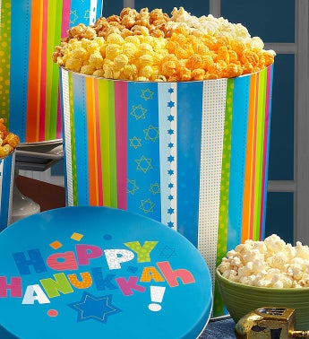 The Popcorn Factory® Happy Hanukkah Popcorn Tins