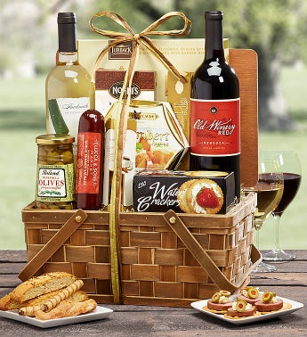 Deluxe Epicurean Gourmet Red & White Wine Hamper