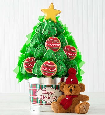 Cheryl's Christmas Tree Cookie Flower Pot