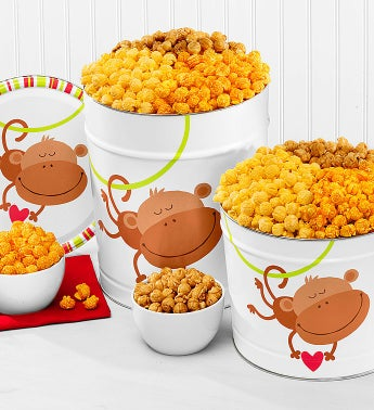 Popcorn Monkey Love 3 Way Tin