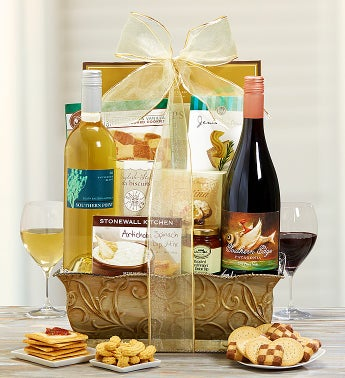 Moonlit Vineyard Wine Gift Basket