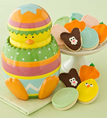 Cheryl's Easter Egg Cookie Jar With Cut-outs