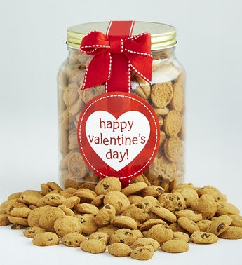 Happy Valentines Day Chocolate Chip Cookie Jar