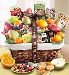 Fruit & Sweets Gift Basket