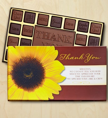 Thank You Personalized Chocolate Box