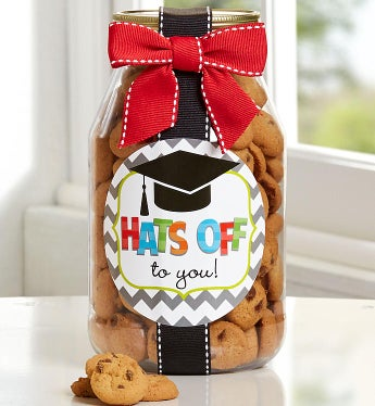 Hats Off to You, Grad! Chocolate Chip Cookie Jar