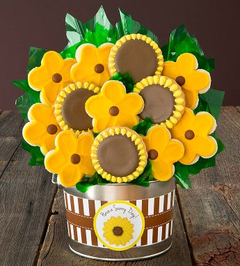 Cheryl's Sunflower Cookie Flower Pot
