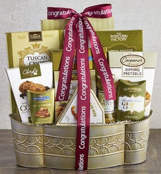 Grand Congratulations Gift Basket
