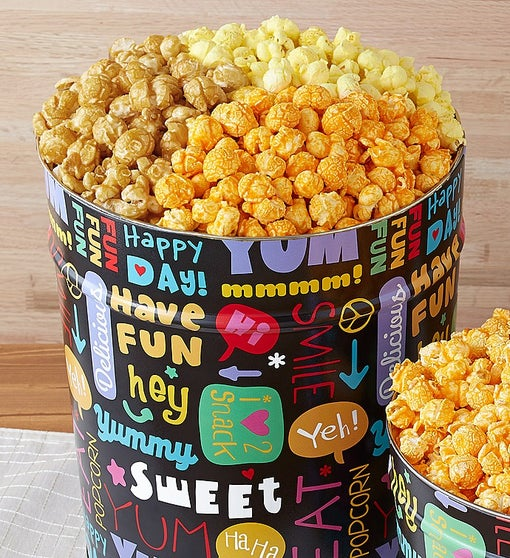 Popcorn Factory Fun with Snacks Popcorn Tin 3.5G