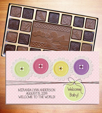 Welcome Baby Personalized Chocolate Box