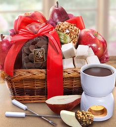 Decadent Chocolate & Fruit Fondue Basket