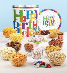 Popcorn Factory Big Birthday Deluxe Snack Tin
