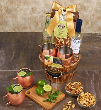 Moscow Mule Cocktail Gift Basket From 1 800 Baskets Com