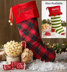 Personalized Christmas Stocking with Treats