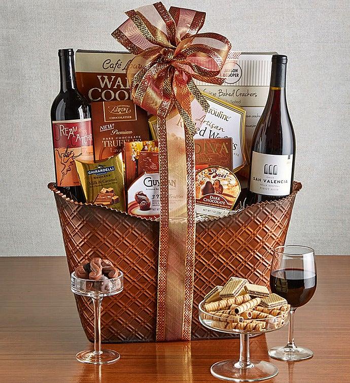 Perfect Pairing Wine Chocolates Gift Basket