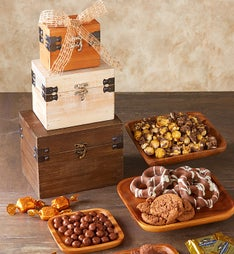 Chocolate Lover's Rustic Trunk Tower