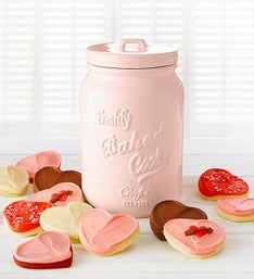 Cheryl's Pink Mason Jar with Cut-Out Cookies