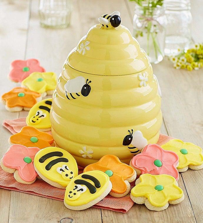 Cheryl 39 s bee hive ceramic cookie jar - Beehive cookie jar ...