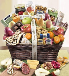 Sympathy gift baskets sympathy gifts 1800baskets with sympathy fruit sweets gift basket negle Choice Image