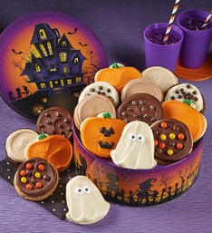 Cheryl's Haunted House Frosted Cookie Tin