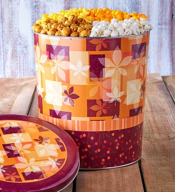 The Popcorn Factory Fall Splendor 4 Way Tin