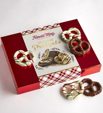 Fannie May Holiday Chocolate Covered Pretzels