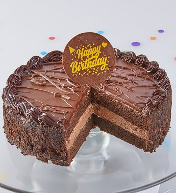 Bake Me A Wish Chocolate Mousse Birthday Cake