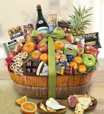 Distinctive Fruit & Sweets Gift Basket Grande